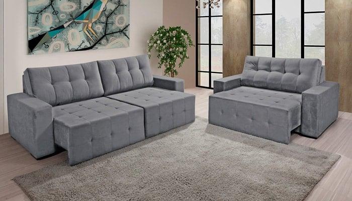 sofa-reclinavel-cinza-tres-lugares