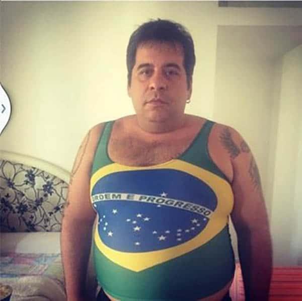 leandro-hassum-look-copa-do-mundo-camisa-brasil fantasia tricurioso