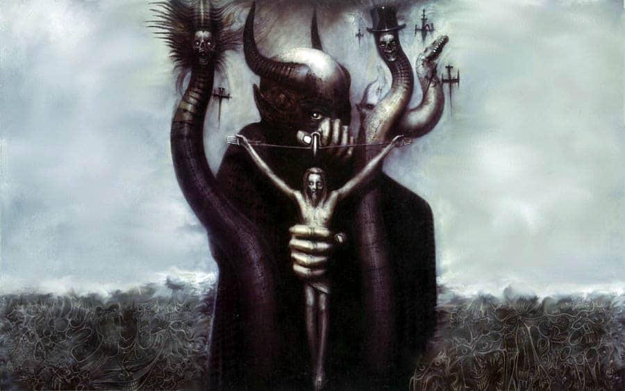 hrgiger obras esculturas obscuras futurista distópico altars of madness tricurioso