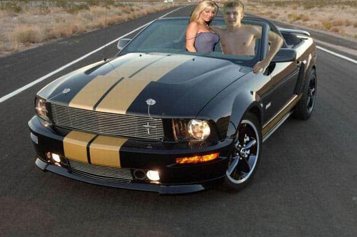 mestres do photoshop tricurioso humor mustang carro e moça