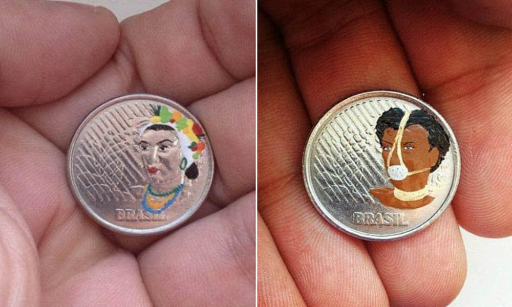 moedas escrava anastacia carmen miranda tricurioso andre levy pintura design