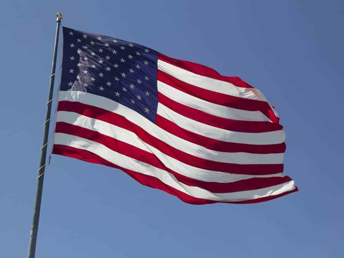 A bandeira estados unidos