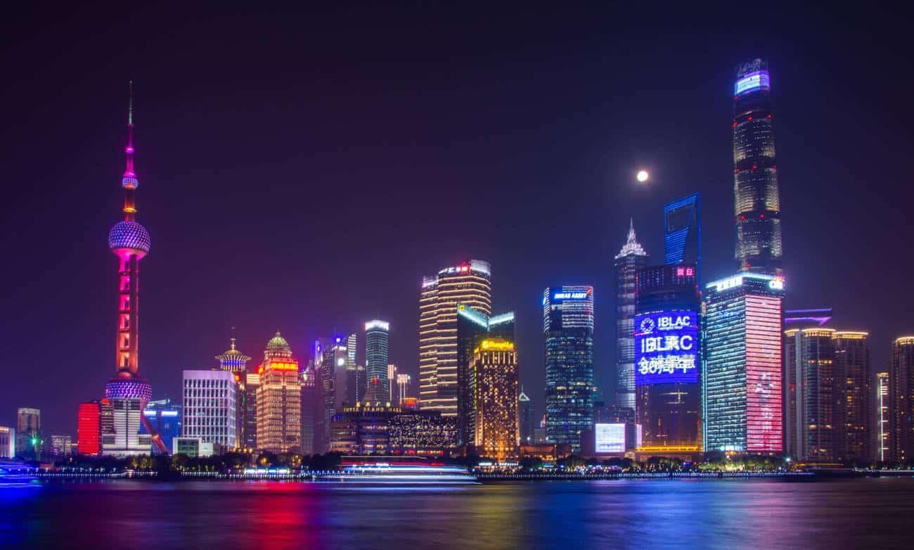 Xangai, maior cidade e centro financeiro da China Comunista.