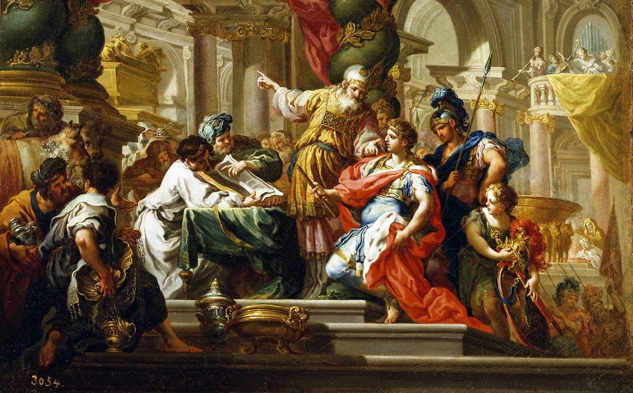Pintura com Alexandre, o Grande