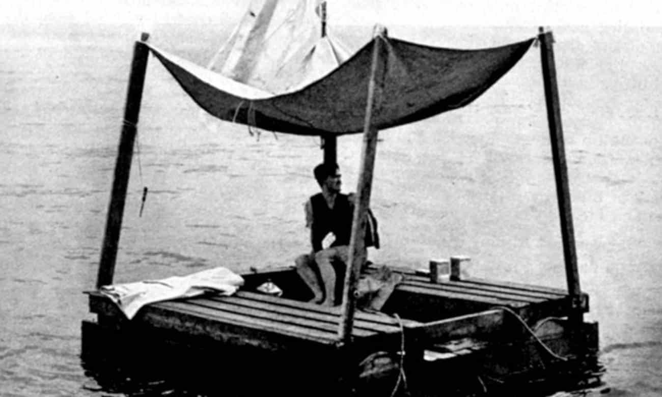 Poon Lim em seu barco