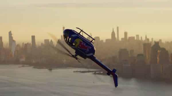 Helicóptero de cabeça para baixo